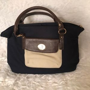 Tommy Hilfiger Canvas Satchel Handbag